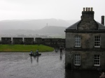 Stirling Castle in the pouring rain.