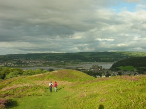 The summit of Conwy mountain